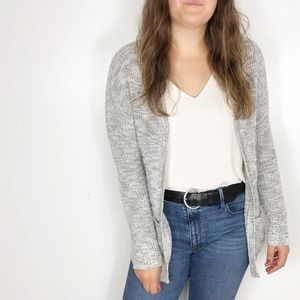 MOSSIMO | Soft Gray Marled Open Cardigan Sweater
